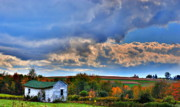Old Houses Photo Metal Prints - Clouds over the Abandoned Metal Print by Emily Stauring