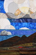Desert Tapestries - Textiles Metal Prints - Clouds over the Desert Metal Print by Linda Beach