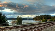 South Puget Sound Prints - Clouds Over The Narrows Print by Chris Anderson