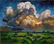 Formations Painting Framed Prints - Clouds Over the Prairie Framed Print by John Lautermilch