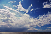 Wadden Sea Posters - Clouds over the sea Poster by Angela Doelling AD DESIGN Photo and PhotoArt