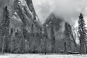 Clouds Over Yosemite Valley Print by Stephen  Vecchiotti