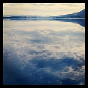 Tasmania Prints - Clouds Reflected On River Print by Jodie Griggs