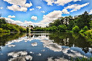Spirtual Framed Prints - Clouds reflection on water Framed Print by Paul Ward