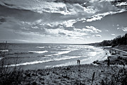 Whitefish Posters - Clouds Rolling In Over Whitefish Bay Poster by Shutter Happens Photography