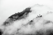 Surrounding Prints - Clouds Surrounding Mountains Print by Ruben Sanchez Photography