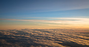 Liquid Droplets Prints - Cloudscape From a 757 Print by David Patterson