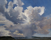 Sun Rays Painting Originals - Cloudscape by Victoria  Broyles