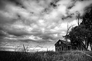 Derelict Prints - Cloudy Abandonment Print by Thomas Zimmerman