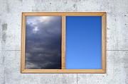 Threats Prints - Cloudy and clear sky views framed Print by Sami Sarkis