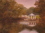 Piedmont Paintings - Cloudy day in Piedmont Park by Steven Logan