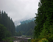 Randall Templeton Art - Cloudy day in the Northern Cascades by Randall Templeton
