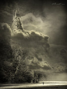 Photomanipulation Metal Prints - Cloudy Day Metal Print by Svetlana Sewell