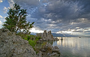 Edge Prints - Cloudy Evening at Mono Lake - California Print by Brendan Reals