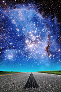 Small Magellanic Cloud Prints - Cloudy Roads Ahead Print by Larry Landolfi