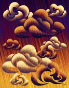 Reds Orange And Blue Metal Prints - Cloudy Summer Day Metal Print by Waylan Loyd