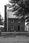 Confederate Monument Prints - Clover Hill Tavern Guesthouse BW Print by Teresa Mucha
