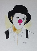 Suspenders Mixed Media Posters - Clown   Poster by Robert Tarzwell