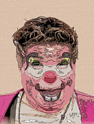 Buffon Mixed Media - Clown 2 by Jesus Nicolas Castanon