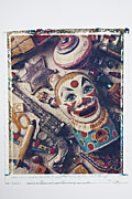 Old Clown Toy Framed Prints - Clown Bank Framed Print by Garry Gay