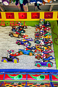 Racing Number Framed Prints - Clown car racing game Framed Print by Garry Gay