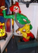 Paper Mache Sculptures - Clown Logic 12 Coin Chaser by Perez