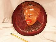 Fantasy Reliefs Originals - Clown Plate  by Richard  Eluk