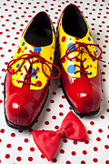 Red Bow Prints - Clown shoes  Print by Garry Gay