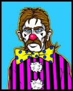 Mustache Digital Art Posters - Clown Stallion Poster by Christopher Capozzi