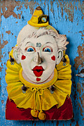 Red Lips Photo Framed Prints - Clown toy game Framed Print by Garry Gay