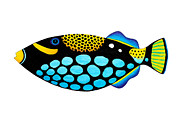 Triggerfish Paintings - Clown Triggerfish  by Opas Chotiphantawanon