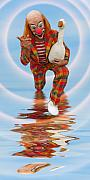 Laughing Posters - Clown with Goose A173322 2x1 Poster by Rolf Bertram