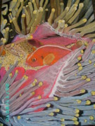 Underwater Pastels - Clownfish by Dion Halliday