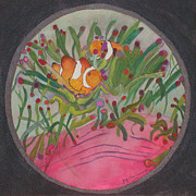 Clown Fish Mixed Media - ClownFish seen through a lense by Joy Braverman