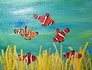 Clown Fish Mixed Media - Clowning Around by Charlene White