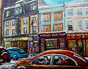 Quebec Paintings - Club Soda Nightclub by Carole Spandau