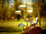 Golf Green Prints - Clubs II Print by Christine Zipps
