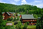 Gatlinburg Prints - Cluster Cottages Print by Robert Harmon