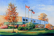 Cambridge Painting Prints - CMP Plant Print by Hanne Lore Koehler