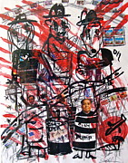 Obama Mixed Media - CNN tonight America America Series by Esther Anne Wilhelm
