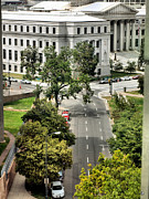 Stately Posters - CO Federal Bldg Poster by Irma BACKELANT GALLERIES