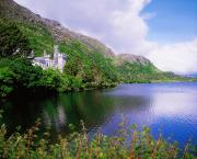 Republic Building Prints - Co Galway, Ireland, Kylemore Abbey Print by The Irish Image Collection