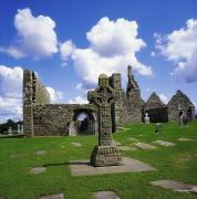 High And Low Framed Prints - Co Offaly, Clonmacnoise Framed Print by The Irish Image Collection