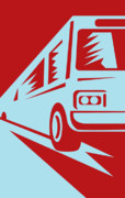 Coach Bus Coming Up Print by Aloysius Patrimonio