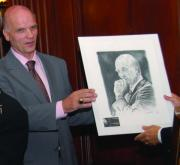 Philadelphia Basketball History Drawings - Coach Phil Martelli with Portrait by Paul Autodore