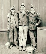 Grime Framed Prints - Coal Breaker Boys 1900 Framed Print by Padre Art