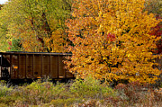 Coal Prints - Coal Car and Fall Color Print by Thomas R Fletcher