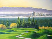 Golf Painting Prints - Coal Creek Print by Patrick Parker