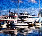 Canon  Digital Art - Coal Harbour Boats  by Julius Reque