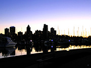 Vancouver Sunset Posters - Coal Harbour Poster by Will Borden
